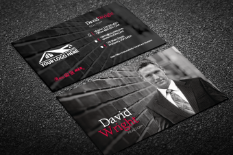 Real estate agent business cards free shipping modern veritcal real estate business card w portrait reheart Images
